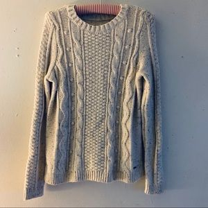 Hollister Soft Chunky Neutral Sweater Size Small